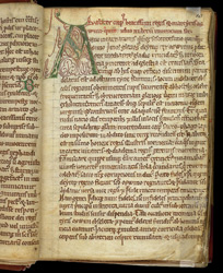 Decorated Initial, In The Life of St. Oswin f.10r